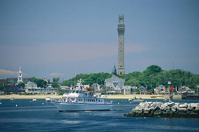 A Cityscape View Of Pilgrim Monument Poster by Michael Melford