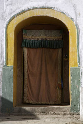 A Curtained Entrance To A Monastery Poster by David Evans