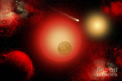A Distant Binary Star System Located Poster by Mark Stevenson
