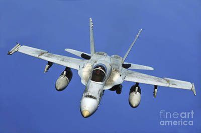 A Fa-18 Hornet Participates Poster by Stocktrek Images