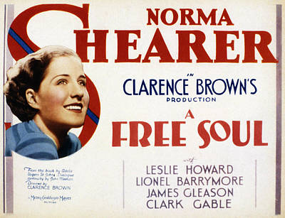 A Free Soul, Norma Shearer, 1931 Poster