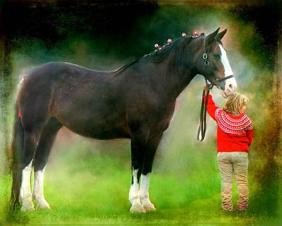 Poster featuring the photograph A Girl And Her Horse by Davandra Cribbie