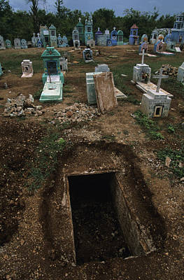 A Graveyard Has Handpainted Stones Poster by Stephen Alvarez