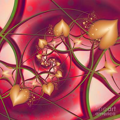 Poster featuring the digital art A Growing Love by Michelle H