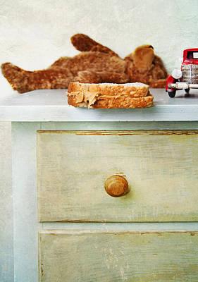 A Half Eaten Peanut Butter Sandwich Poster by Marlene Ford