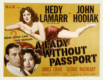 A Lady Without Passport, John Hodiak Poster by Everett