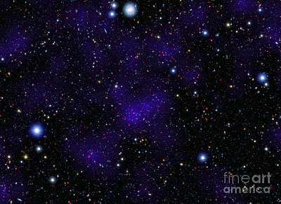 A Large Collection Of Galaxies Poster by Stocktrek Images