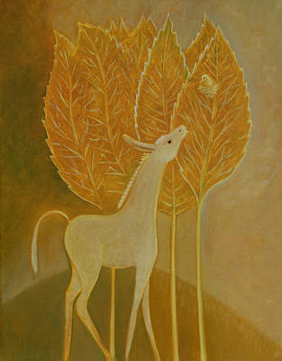 Poster featuring the painting A Little Golden Song by Tone Aanderaa