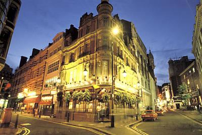 A London Pub At Night Poster