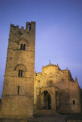 A Medieval Church And Campanile Or Bell Poster
