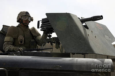 A Mk-19 Automatic Grenade Launcher Poster by Stocktrek Images