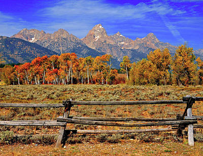 A Moment In Wyoming In Autumn Poster by Jeff R Clow