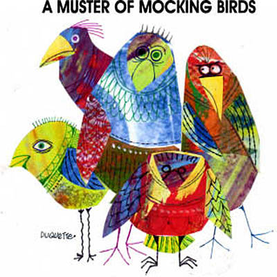 A Muster Of Mocking Birds Poster by Steven Duquette