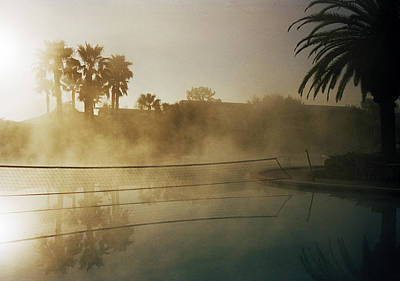 A Net Hanging Across A Swimmingpool, Forida, Usa Poster