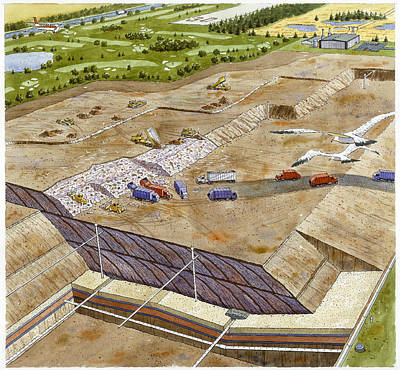 A Painting Of A Landfill That Causes Poster by Pierre Mion