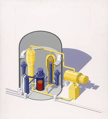 A Painting Of An Improved Reactor Poster by Pierre Mion