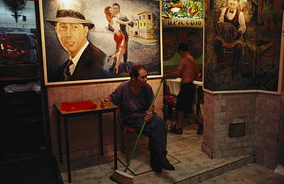 A Painting Of Tango Dancers Hangs Poster by Pablo Corral Vega