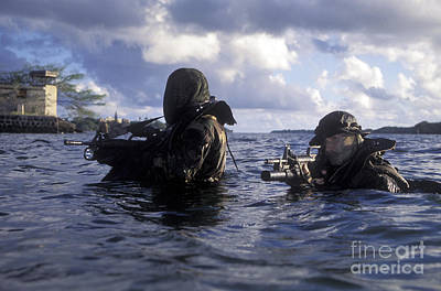 A Pair Of Navy Seal Combat Swimmers Poster