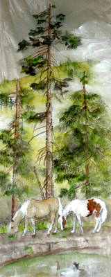 Poster featuring the painting A Peaceful Scene by Debbi Saccomanno Chan