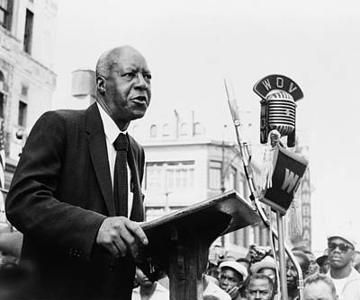 A. Philip Randolph Making Speech Poster by Everett