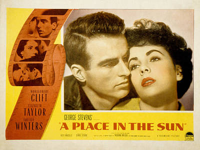 A Place In The Sun, Montgomery Clift Poster by Everett
