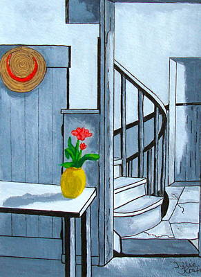A Stairway Home Poster by Julie Kraft