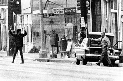 A Plainclothes Policemen Arrests An Poster by Everett