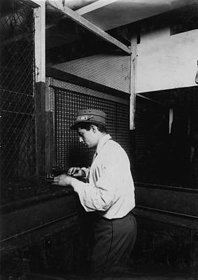 A Postal Telegraph Boy Learning To Send Poster by Everett