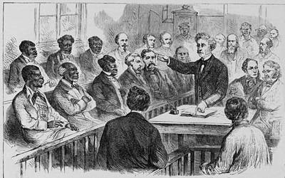 A Racially Integrated Jury In The U.s Poster by Everett