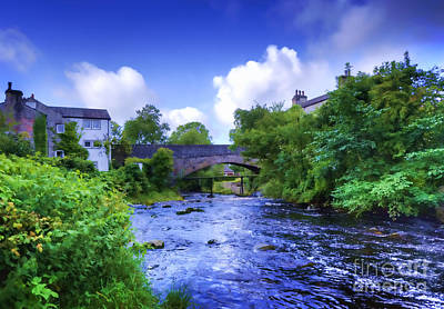 Poster featuring the photograph A River Runs Thru It In The Yorkshire Dales by Jack Torcello