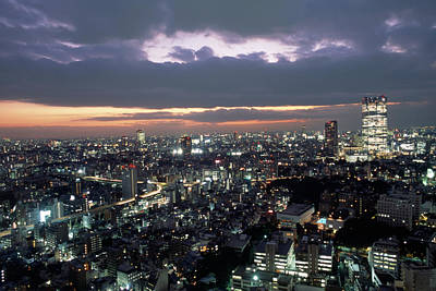 A Scene Of The Tokyo Skyline Poster