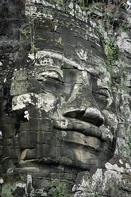 A Serene Faced Likeness Of Buddha Poster