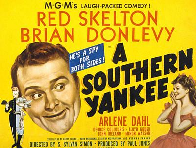 A Southern Yankee, Red Skelton, Arlene Poster