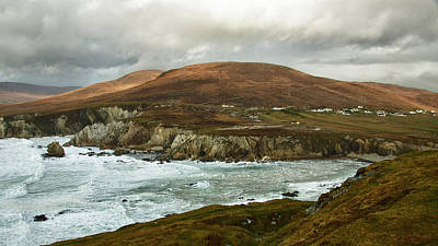 Poster featuring the photograph A Stormy Day On Achill Island by Trever Miller