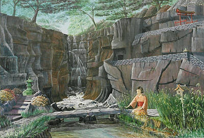 Poster featuring the painting A Stream Of Gentle Thoughts by Anthony Lyon