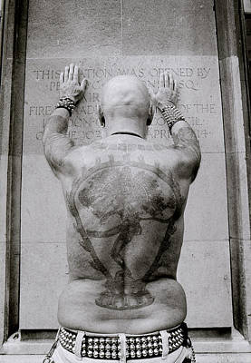 Tattooed Man Poster by Shaun Higson