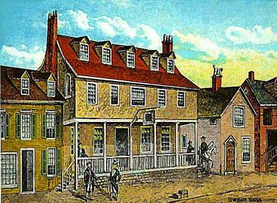 A Tavern In Philadelphia Pa Poster by Dwight Goss