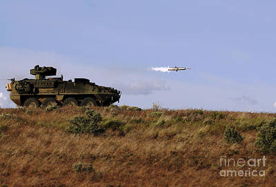 A Tow Missile Is Launched From An Poster by Stocktrek Images