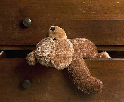 A Traditional Toy A Childs Teddy Bear Poster by Marlene Ford
