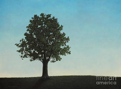 A Tree On A Hill Poster by Dan Lockaby