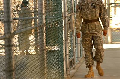 A U.s. Army Soldier Stands Guard Poster