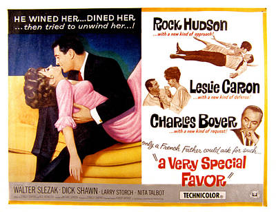 A Very Special Favor, Leslie Caron Poster by Everett