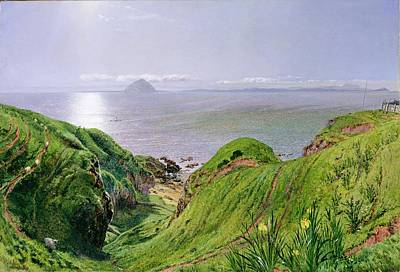 A View Of Ailsa Craig And The Isle Of Arran Poster by William Bell Scott