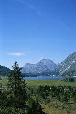 A View Of The Engadin Valley Outside St Poster