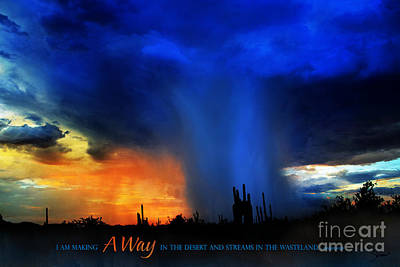 A Way In The Desert Poster by Shevon Johnson