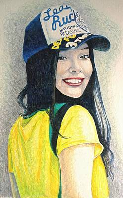 A Young Girl With A Cap Poster