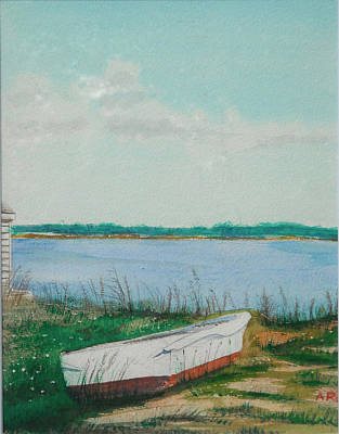 Poster featuring the painting Abandoned by Anthony Ross