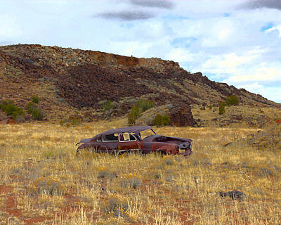 Poster featuring the photograph Abandoned Car by Steve McKinzie