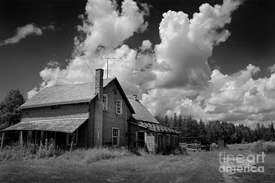 Abandoned Farm House- Rural Haunts- Hastings County Ontario Poster by Mark Clifford