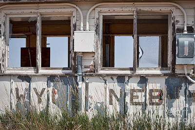Abandoned On State Line Poster by Lawrence Burry